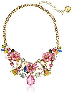 """Betsey Johnson Spring Glam Flower and Crystal Bug Necklace, 19"""" Betsey Johnson http://www.amazon.com/dp/B00H4GBFV6/ref=cm_sw_r_pi_dp_V.b6ub0CA6R2T"""