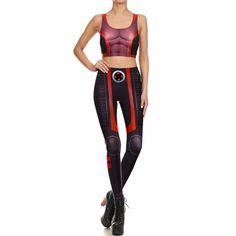 New Summer Women Leggings Super HERO X-Men Legins Fitness Fashion Set for Women