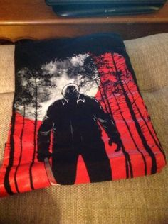 Jason-Voorhees-Friday-The-13th-Horror-Movie-T-Shirt-Red-Black-White-XL-Cotton #ebay #endingsoon #kenblackcat