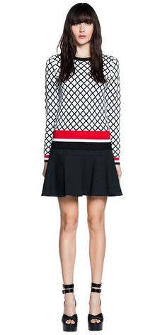 Cue | Lattice Knit Dress