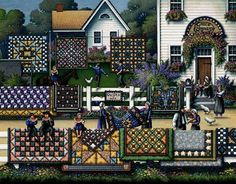 Love, love, love this Amish quilt