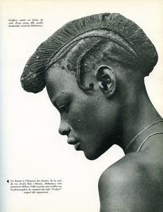 Africa | Just one of the many lovely images from the publication Parures africaines (www.amazon.fr/...) published in 1956.