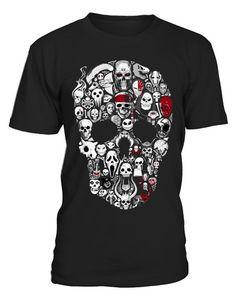 SKULL COLLAGE  Best #Skull #Halloween #Tshirt for you...