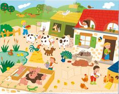 The A&P Sommer Foundation distributes colorful people & animal themed posters that help pre-schoolers build vocabulary. Cycle 1, Vocabulary Building, Poster S, Farm Yard, France, English Lessons, Speech Therapy, Pre School, Activities For Kids