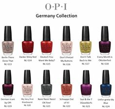 """New fall """"German"""" OPI collection"""
