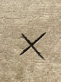 X marks this spot permanently.