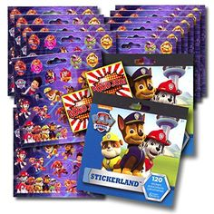 LOT of 2 Paw Patrol Sticker Treats 16 Sticker Boxes Each Party Favors Classroom