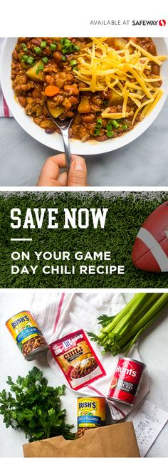 Save big on mccormick bush conagra albertsons coupons at Albertsons. Game Day Chili Recipe, Chili Seasoning Mix, Chili Ingredients, No Bean Chili, Game Day Food, Big Game, Chili Recipes, Finger Foods, Tomatoes