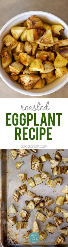 Eggplant Recipe - Roasted Eggplant makes an easy and delicious dish on its own or to use in so many other recipes! Other Recipes, Side Dish Recipes, Vegetable Recipes, Side Dishes, Whole Food Recipes, Vegetarian Recipes, Cooking Recipes, Vegetarian Lunch, Roast Recipes
