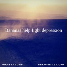 Bananas help fight depression. #HealthBomb #Trivia #Food