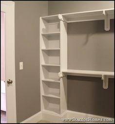 Master Suite Closet Design | Master Closet Design | Builtin Shoe Rack