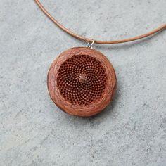Mandala jewelry - Protea earrings - unique natural jewelry handmade in Australia