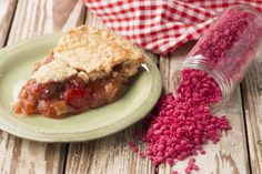 Strawberry Rhubarb Pie ~ Sweet and tart mingle together in bites of strawberry and rhubarb topped with golden crumble for a fragrance that will delight all senses!
