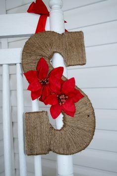 Christmas Monogram Wreath on Etsy, $25.00