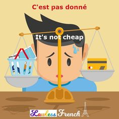 Say this #French expression when something is expensive. #learnfrench #lawlessfrench Idiomatic Expressions, French People, Teacher Boards, French Expressions, French Teacher, French Language, Learn French, Vocabulary, Culture