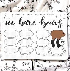 Easy Drawings We bare bears doodles by ig Cute Doodles Drawings, Cute Bear Drawings, Easy Drawings, Bullet Journal Art, Bullet Journal Ideas Pages, Bullet Journal Inspiration, We Bare Bears Wallpapers, Doodle Art Journals, Simple Doodles