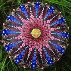 Your place to buy and sell all things handmade Dot Art Painting, Mandala Painting, Mandala Art, Stone Painting, Painted Rocks Owls, Mandala Rocks, Flower Fairies, Mandala Design, Stone Art