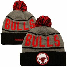 Mitchell & Ness Chicago #Bulls Hardwood Classics High 5 Knit Hat - Black/Brown $23.95