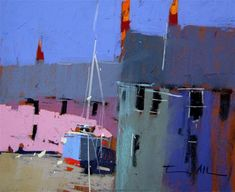 "Daily Paintworks - ""The little pink house"" by Tony Allain"