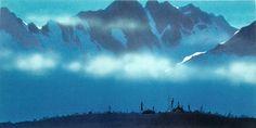 "Visual development for Disney's ""Mulan"" by Hans Bacher."