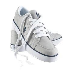 Polo Ralph Lauren Mens Classic Canvas Sneaker Gray