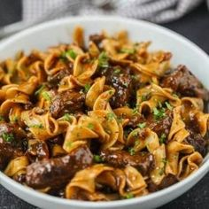 Beef Tip Recipes, Stove Top Recipes, Cooking Recipes, Pasta Recipes, Noodle Recipes, Crockpot Recipes, Dinner Recipes, Beef And Noodles Crockpot, Beef Tips And Noodles