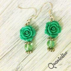 orecchini Rose Verde