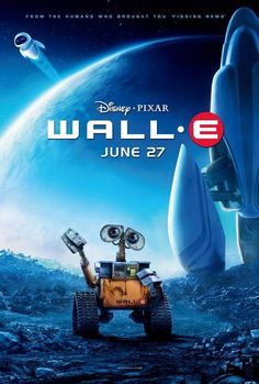 Wall-E.. So cute.  LOVED IT! It was my favorite movie ever because it came out on my birthday!