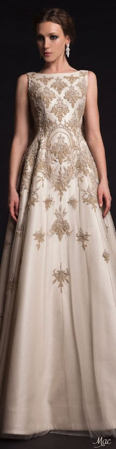 The Spring 2015 Krikor Jabotian Wedding Dresses are like nothing we've ever seen! With so much glamour, you have to check out these styles! Style Couture, Couture Fashion, Couture 2015, Dubai Fashion, Party Fashion, Fashion Photo, Fashion Fashion, Evening Dresses, Prom Dresses