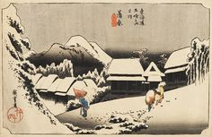 bara (Yoru no yuki) Woodblock print by Utagawa Hiroshige c. 1833