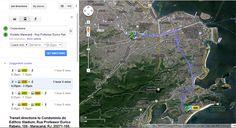 Google Transit permite planejar rotas usando dados de transporte público nas cidades sede da Copa (foto: Reprodução/Google)