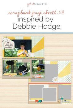 Scrapbook Page Sketch and Template