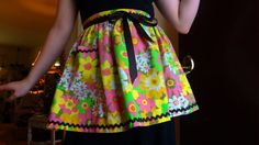 Half Apron Vintage Style Apron Upcycled by BerthaLouiseDesigns, $22.95