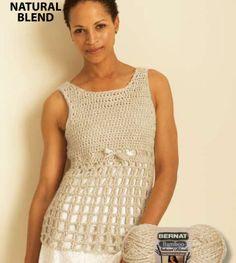 Tank Top.  Free crochet pattern.