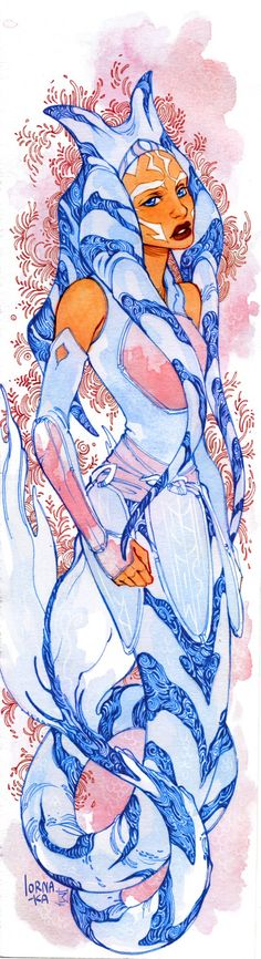Ahsoka Tano mermaid <3