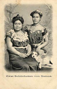 Alfred John Tattersall (Samoa), Zwei Schönheiten von Samoa, c.1905,  sru.uea.ac.uk