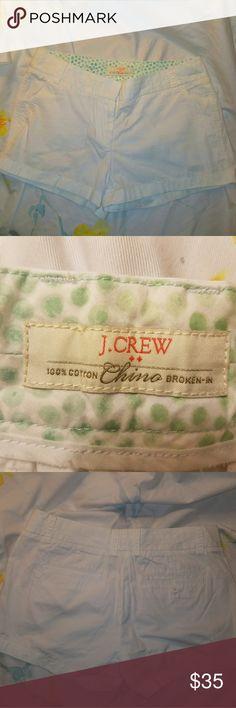 "NWOT J. Crew chino shorts 100% cotton white chino shorts Flat waist 15.5"" Rise 9"" Inseam 2.75"" J. Crew Shorts"