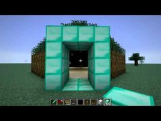 a quick tutorial showing in minecraft how to make a portal to the moon but it's not an actual portal to the moon it's actually a cool trick to fool your frie. Minecraft Portal, Minecraft Videos, Amazing Minecraft, Minecraft Games, Minecraft Stuff, Building Map, Building For Kids, Minecraft House Designs, Minecraft Creations