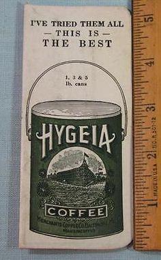 1925-HYGEIA-COFFEE-ADVERTISING-NEEDLE-BOOK-COMPLETE