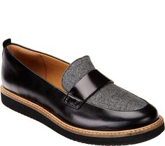 Flatter your feet with the feel of these leather Clarks Artisan loafers, a go-to shoe for any occasion. QVC.com