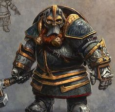 Maagravin - Evil Dwarven Cleric of The Bent One - Forger of Dark Iron