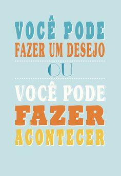Poster Frase Voce pode fazer um desejo - Decor10