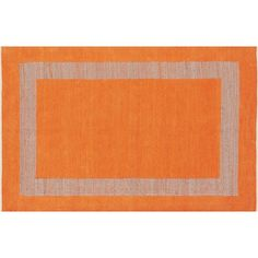 CB2 Double Text Orange Rug 6'x9' ($249) ❤ liked on Polyvore featuring home, rugs, hand woven rugs, flat weave area rug, border area rugs, textured rug and border rug