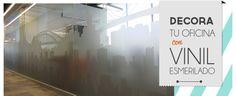 Decoración de oficinas con vinilos decorativos y vinil esmerilado en todo México. Vinilos decorativos 100% personalizados para oficinas, hoteles y restaurantes. Vinil esmerilado para vidrios / ventanas / cristales.