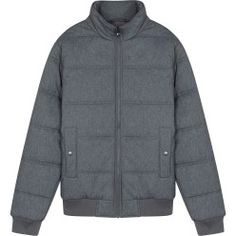 Reply BST products in 1980 with inspiration from the style of the 80s fashion man jacket quilted cotton turtleneck bomber shape with the body front pocket style tray. Gray shirt with blue tones energetic style, unisex slightly. This product has a female version (code 6OT16W014), you can choose to combine dual map. Prices : 50$