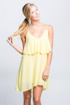 Yellow Double Layer Dress | Stella Rae's