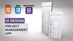In this UI Design tutorial you will learn to design Project Management App using HTML, CSS & Bootstrap. Ui Design Tutorial, Design Tutorials, Design Projects, Card Ui, Tracking App, Mobile App Ui, Travel Cards, App Ui Design, Project Management