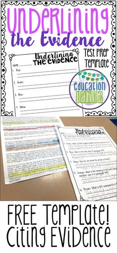 LESS writing MORE skill practice! See how my students mastered locating evidence… 6th Grade Ela, 4th Grade Writing, Third Grade Reading, Middle School Reading, Teaching Writing, Fourth Grade, Teaching Ideas, Ninth Grade, Seventh Grade