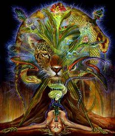 Ayahuasca Art #ravenectar #visionaryart #art #trippy #psychedelic #sacred