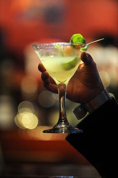 Cucumber melon martini